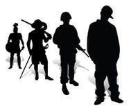 Evolutie van verdedigers van het inheemse land Stock Foto
