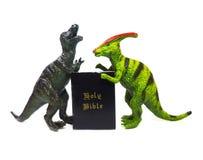 Evolutie versus Geloof stock foto's