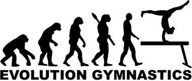 Evolutiegymnastiek met evenwichtsbalk Stock Foto