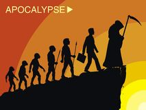 Evolution. Death is the path of evolution for the apocalypse Royalty Free Stock Images
