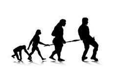 Evolution_4 humano Imagem de Stock Royalty Free