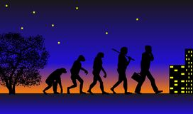 Evolution. Abstract vector illustration of evolution Royalty Free Stock Photos