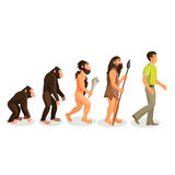 Evolution ape to man process and related concepts. Stock Photography