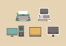 Evolution av datoren royaltyfri illustrationer
