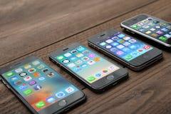 Evolution av den Apple iPhonen Royaltyfri Fotografi