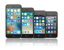 Evolution av den Apple iPhonen Royaltyfria Foton
