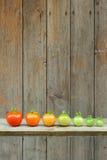 Evolution av den röda tomaten - mogna processen av frukten Royaltyfria Foton