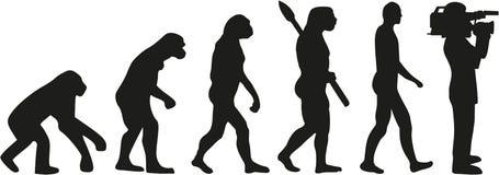 Evolution av en filmandekameraman royaltyfri illustrationer