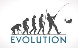 Evolution av mannen royaltyfri illustrationer