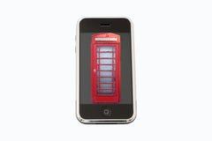 Evolution av telefonen Arkivbild