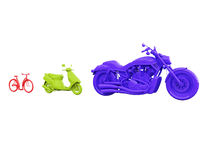 Evolution of bicycle Royalty Free Stock Image