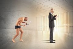 Evolution of businessman. With technology and knowledge Royalty Free Stock Photo