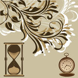 Evolution clock Royalty Free Stock Images