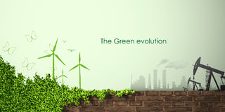 Evolution of the concept of greening Stock Image