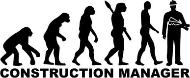 Evolution construction manager. Occupation vector Stock Photos
