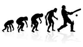 Evolution of a Cricket Player Royalty Free Stock Image