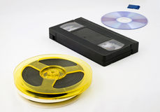 Evolution of data storage Royalty Free Stock Images