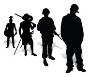 Evolution of defenders of the native land Stock Photo