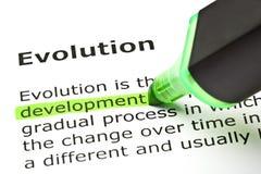 Evolution And Development Definition Stock Photo