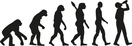 Evolution of drinking man. Vector Royalty Free Stock Photography