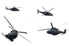 Evolution of flight of a military helicopter