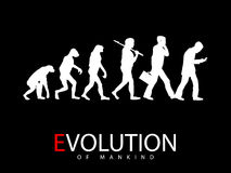 Evolution från apa till den sociala massmediaknarkaren vektor illustrationer