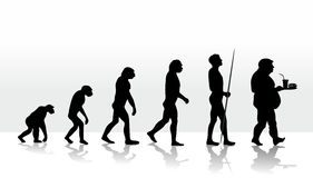 Evolution. Funny illustration of human evolution Stock Photo