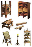 Evolution of furniture Stock Photo