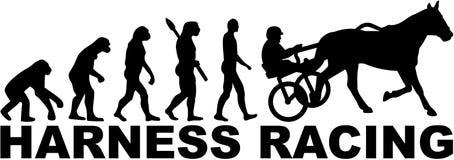 Evolution of harness racing. Vector illustration Stock Photo