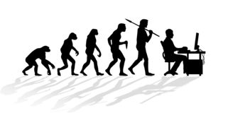Evolution of human worker silhouette