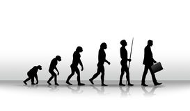 Evolution. Ironic illustration of human evolution up to modern times Royalty Free Stock Photos