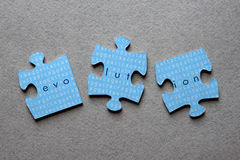 Evolution Jigsaw Mismatched Royalty Free Stock Photos