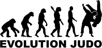 Evolution judo. Fighting vector sports Royalty Free Stock Photos