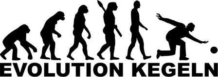 Evolution Kegeln Royalty Free Stock Photos