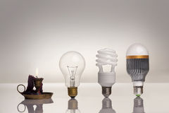 Evolution of lighting Royalty Free Stock Photos