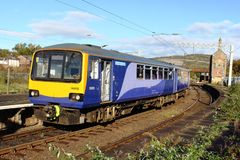 Evolution livery on refurbished Pacer dmu train Stock Photos