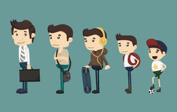 Evolution of man from child. Eps10 vector format Royalty Free Stock Photo