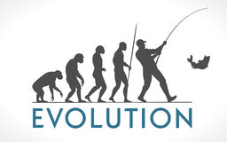 Evolution of man Stock Image