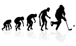 Evolution Of The Ice Hockey Player. Stock Photography