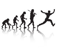 The evolution of people running Royalty Free Stock Image