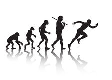 The evolution of people running Royalty Free Stock Images