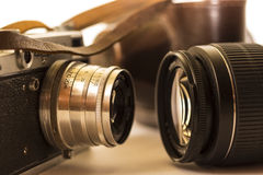 Evolution of photography Stock Images