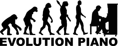 Evolution piano music Stock Photography