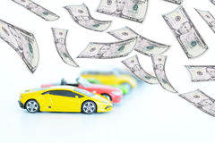 Evolution of the prices in automotive industry Royalty Free Stock Photos