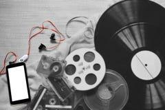Evolution of the recording. Stock Photo