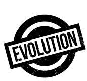 Evolution rubber stamp Royalty Free Stock Image