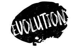 Evolution rubber stamp Stock Photography