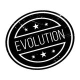 Evolution rubber stamp Royalty Free Stock Photo