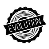 Evolution rubber stamp Royalty Free Stock Images