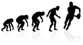Evolution of the Rugby Player Royalty Free Stock Photo